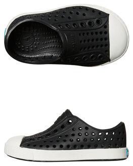 BLACK SHELL WHITE KIDS BOYS NATIVE FOOTWEAR - 13100100-1105