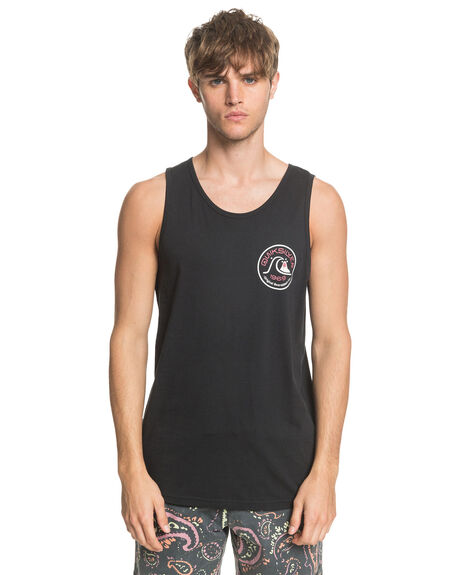 BLACK MENS CLOTHING QUIKSILVER SINGLETS - EQYZT05779-KVD0