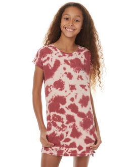 BLUSH TIE DYE KIDS GIRLS MUNSTER KIDS DRESSES - MM171DR10BLSH