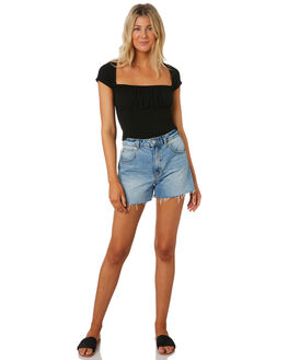 BLACK WOMENS CLOTHING MINKPINK FASHION TOPS - MP1908007BLK