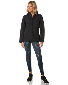 BLACK WOMENS CLOTHING PATAGONIA JACKETS - 83807BLK