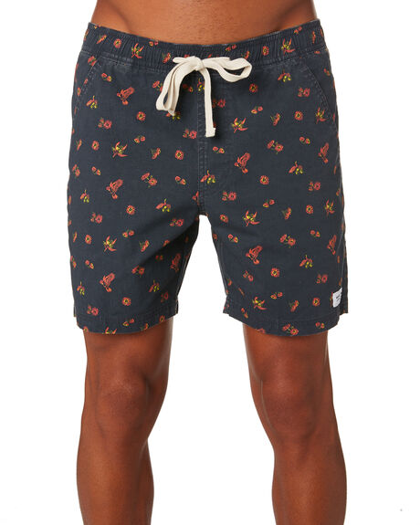 DIRTY BLACK MENS CLOTHING BANKS BOARDSHORTS - BSE0219DBL