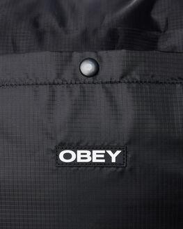 BLACK MENS ACCESSORIES OBEY BAGS + BACKPACKS - 100010124BLK