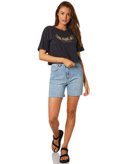 WASHED BLACK WOMENS CLOTHING SILENT THEORY TEES - 6044052BLK