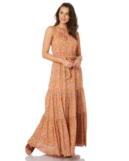 ORANGE WOMENS CLOTHING TIGERLILY DRESSES - T392463ORG