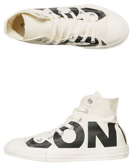 NATURAL BLACK KIDS BOYS CONVERSE SNEAKERS - 359533NABLK
