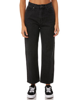 STONE BLACK WOMENS CLOTHING AFENDS JEANS - W181451STBLK