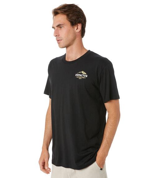 BLACK MENS CLOTHING DEPACTUS TEES - D5212007BLK