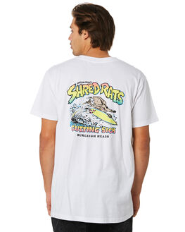 WHITE MENS CLOTHING THE LOBSTER SHANTY TEES - LBSSRWHT