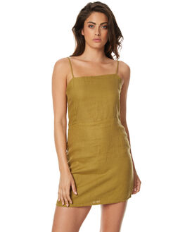 OLIVE WOMENS CLOTHING ZULU AND ZEPHYR DRESSES - ZZ1570OLV