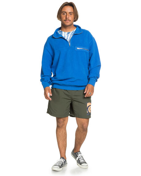 CLASSIC BLUE MENS CLOTHING QUIKSILVER JUMPERS - EQYFT04144-BRL0