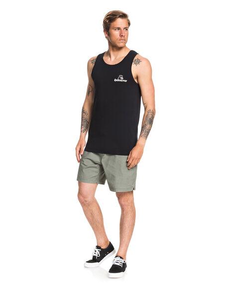 BLACK MENS CLOTHING QUIKSILVER SINGLETS - EQYZT05681-KVJ0