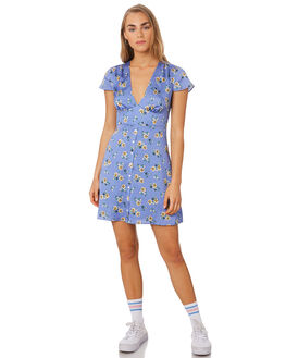 LILAC FLORAL WOMENS CLOTHING THE EAST ORDER DRESSES - EO190910DLILAC
