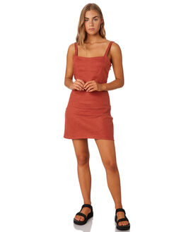 ROCKER RED WOMENS CLOTHING THRILLS DRESSES - WTS9-913HRED