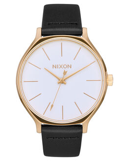 GOLD WHITE BLACK WOMENS ACCESSORIES NIXON WATCHES - A1250-1964
