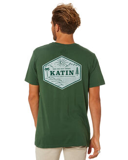 GREEN MENS CLOTHING KATIN TEES - TSPAR02GREEN