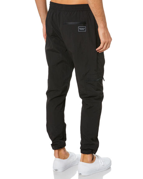 BLACK MENS CLOTHING RPM PANTS - 20WM23ABLK