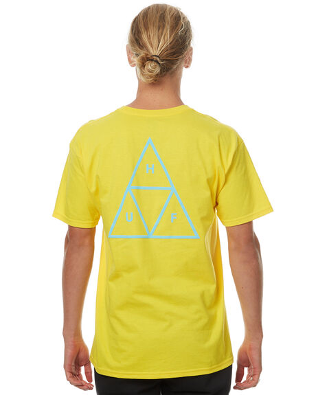 YELLOW OUTLET MENS HUF TEES - TS00057YLW