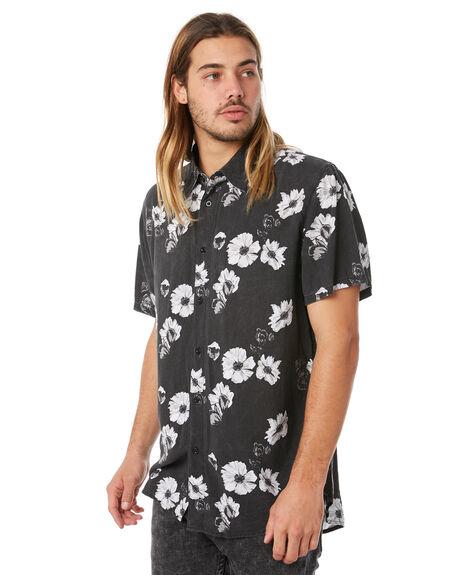 BLACK MENS CLOTHING AFENDS SHIRTS - M183204BLK