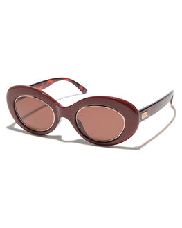 OXBLOOD BROWN TORT WOMENS ACCESSORIES CRAP SUNGLASSES - 173T56AA-GLDOXBLD