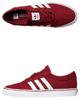 BURGUNDY WHITE MENS FOOTWEAR ADIDAS ORIGINALS SNEAKERS - BY4033BUR