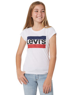 WHITE KIDS GIRLS LEVI'S TOPS - 37391-0183001