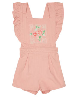 DUSTY PINK KIDS TODDLER GIRLS ROCK YOUR BABY PLAYSUITS + OVERALLS - TGB1837-PRDSTPK