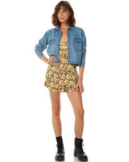 STONE BLUE WOMENS CLOTHING AFENDS FASHION TOPS - W183100-STNBLU