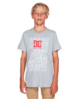 GREY HEATHER KIDS BOYS DC SHOES TOPS - UDBZT03211-KNFH