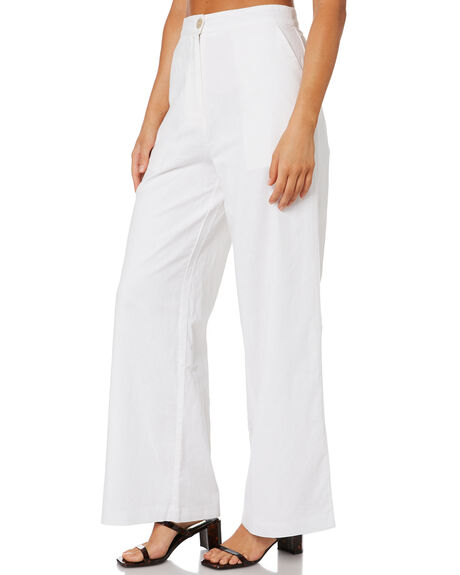 WHITE WOMENS CLOTHING NUDE LUCY PANTS - NU23966WHT