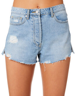 BLEACHED INDIGO WOMENS CLOTHING C&M CAMILLA AND MARC SHORTS - CMD8152BLIND