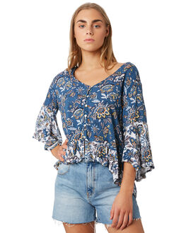 BLUE FLORAL WOMENS CLOTHING O'NEILL FASHION TOPS - 5421204BLF