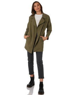 ARMY GREEN WOMENS CLOTHING THRILLS JACKETS - WTW9-210FARMY