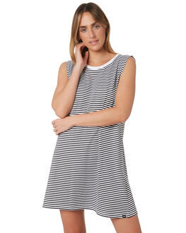 BLACK WHITE WOMENS CLOTHING RIP CURL DRESSES - GDRHT10431