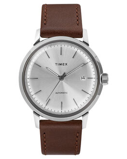 SILVER BROWN MENS ACCESSORIES TIMEX WATCHES - TW2T22700SILB
