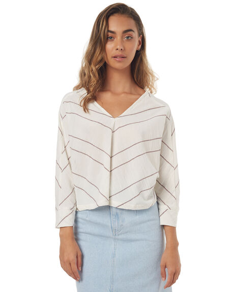 STRIPE WOMENS CLOTHING ZULU AND ZEPHYR FASHION TOPS - ZZ1677STRI