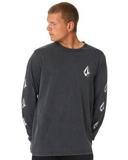 BLACK MENS CLOTHING VOLCOM TEES - A3631871BLK