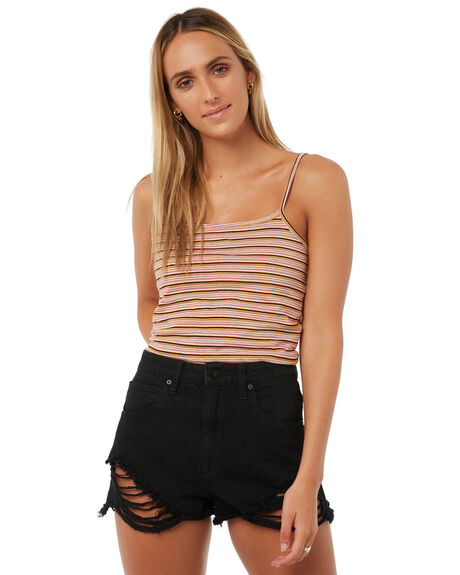MULTI STRIPE WOMENS CLOTHING ALL ABOUT EVE SINGLETS - 6403107MSTR