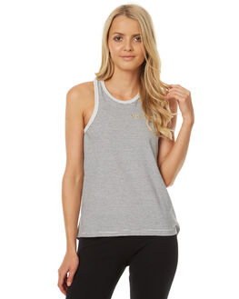 LIGHT GREY MARLE WOMENS CLOTHING RIP CURL SINGLETS - GTESY13597