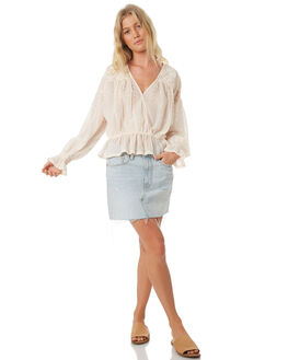 IVORY WOMENS CLOTHING FREE PEOPLE FASHION TOPS - OB874637IVO
