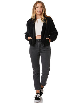 BLACK WOMENS CLOTHING HURLEY JACKETS - BQ3294-010