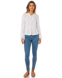 WHITE WOMENS CLOTHING ALL ABOUT EVE FASHION TOPS - 6403048WHT