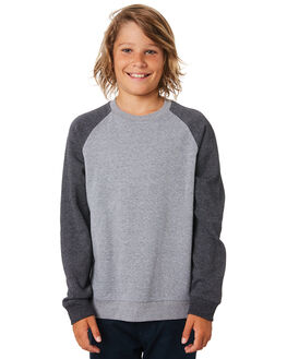 GREY HEATHER KIDS BOYS HURLEY JUMPERS + JACKETS - BQ2088050