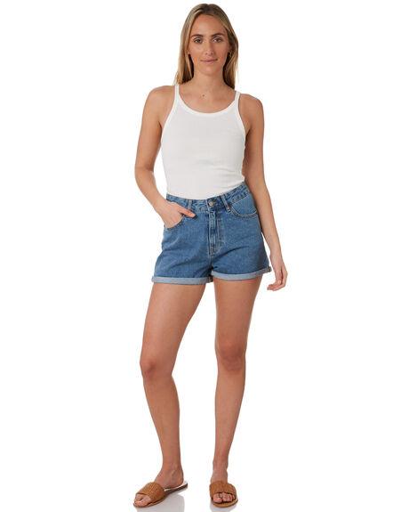 RETRO SKY BLUE WOMENS CLOTHING DR DENIM SHORTS - 1610103I29RTSB