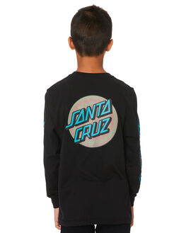 BLACK KIDS BOYS SANTA CRUZ TOPS - SC-YLA9196BLK