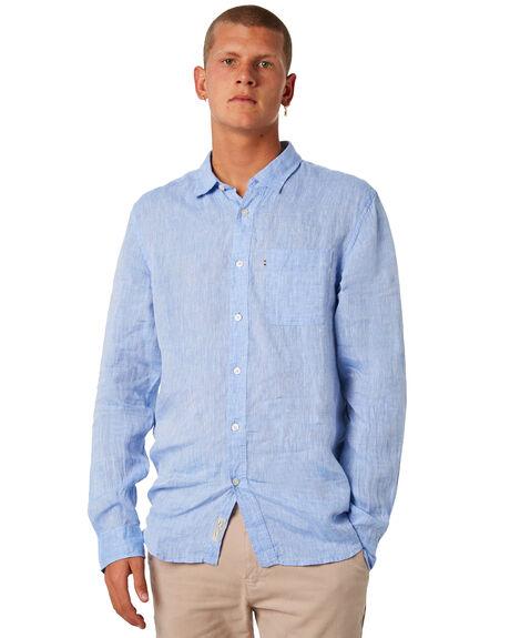 CHAMBRAY MENS CLOTHING ACADEMY BRAND SHIRTS - BA801NVY