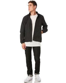 BRIGHT BLACK MENS CLOTHING OUTERKNOWN JACKETS - 1590002BBK