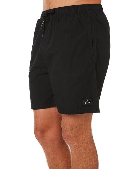 BLACK MENS CLOTHING RUSTY SHORTS - WKM0922BLK