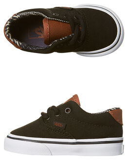 BLACK MATERIAL MIX KIDS TODDLER BOYS VANS FOOTWEAR - VN-A38ECMMKBLK