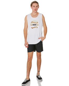 WHITE MENS CLOTHING HURLEY SINGLETS - CK0235100
